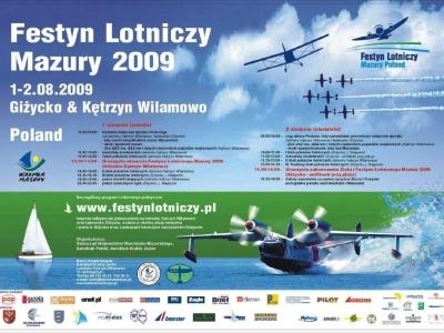 Plakaty Mazurskich Festynów Lotniczych 2009
