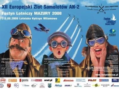 Plakaty Mazurskich Festynów Lotniczych 2008