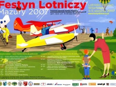 Plakaty Mazurskich Festynów Lotniczych 2007