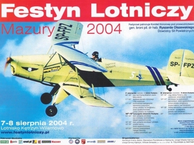 Plakaty Mazurskich Festynów Lotniczych 2004