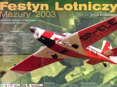 Plakaty Mazurskich Festynów Lotniczych 2003