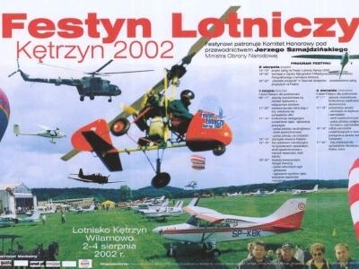 Plakaty Mazurskich Festynów Lotniczych 2002