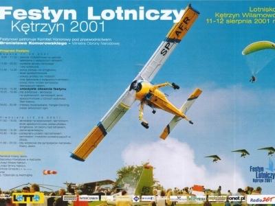 Plakaty Mazurskich Festynów Lotniczych 2001