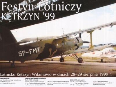 Plakaty Mazurskich Festynów Lotniczych 1999