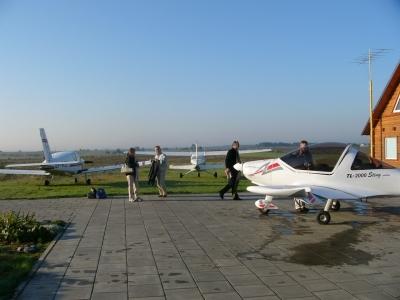 U przyjaciół... na lotnisku w Rudiszkach